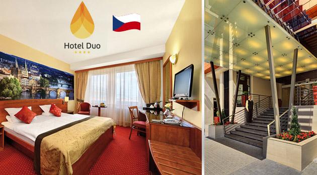 Relax v malebnej Prahe pre dvoch v Hoteli Duo Praha****