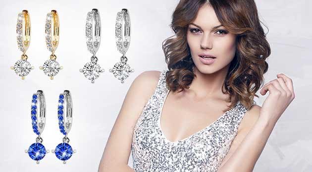Elegantné náušnice so zirkónmi - na výber 3 varianty