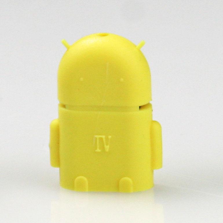 USB OTG adaptér na android - žltý