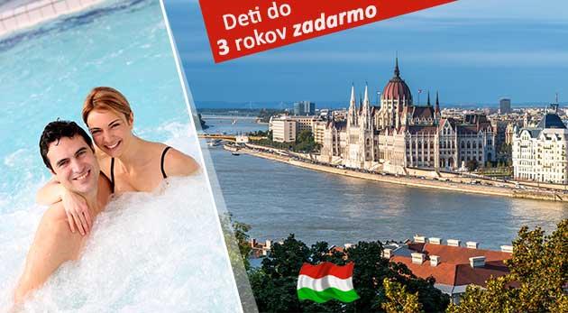 Krásne 3 dni v Budapešti v Riverside Wellness Apartman vrátane voľného vstupu do wellness