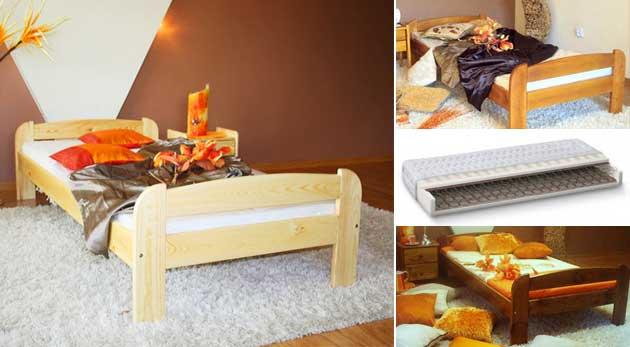 Posteľový set: posteľ, matrac, rošt aj zásuvka
