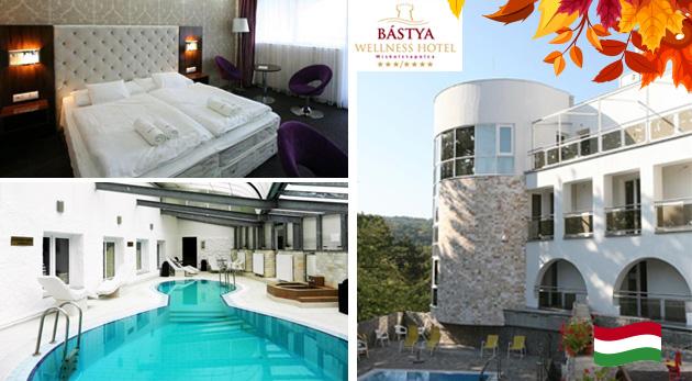 Relaxačné dni v maďarskom Bástya Wellness Hotel*** s wellness a polpenziou pre dvoch