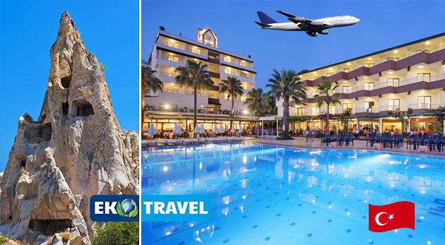 Nezabudnuteľný 8-dňový letecký zájazd do Turecka: Kappadokia a Antalya