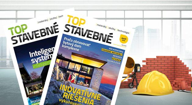 Dve vydania časopisu TOP STAVEBNÉ materiály, služby, technológie