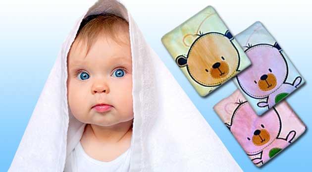3 ks kvalitných detských osušiek z mikrovlákna