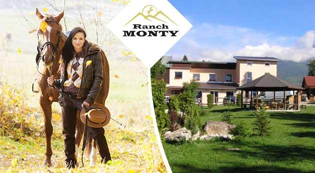 Aktívny oddych v Penzióne Monty Ranch vo Vysokých Tatrách na 3 alebo 4 dni
