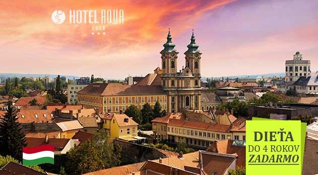 Oddych v Hoteli Aqua*** v maďarskom kúpeľnom meste Eger s wellness