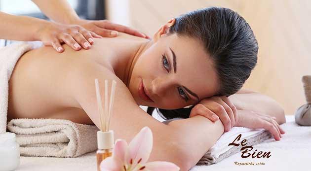 Masáž chrbta a šije alebo hodinová masáž celého tela v centre Bratislavy
