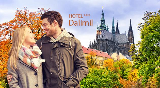 Hotel Dalimil*** blízko centra Prahy na 3 alebo 4 dni s raňajkami