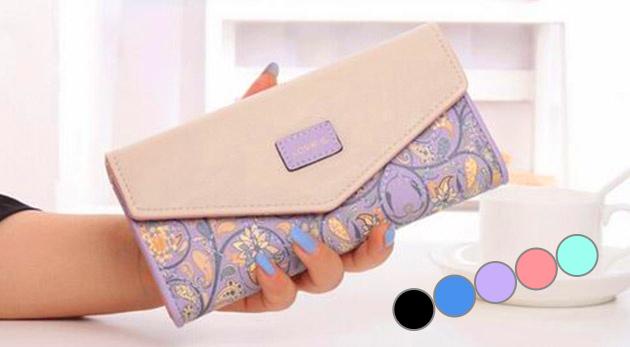 Krásna peňaženka Love's s ozdobným prešívaním