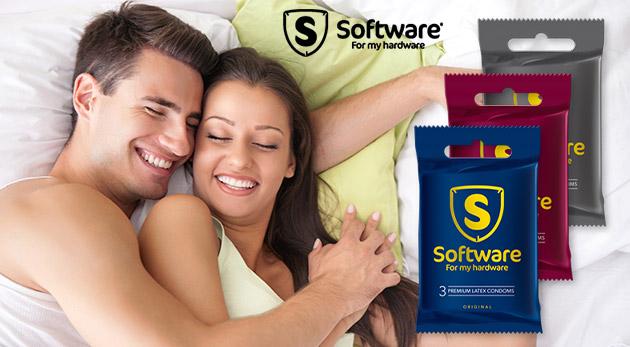 Balíček kondómov od Software: Originál, Strawberry aj Comfort XL