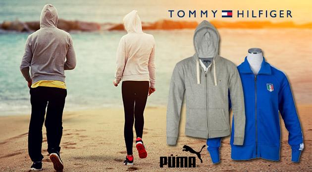 Pánska mikina značky Tommy Hilfiger alebo dámska mikina značky Puma