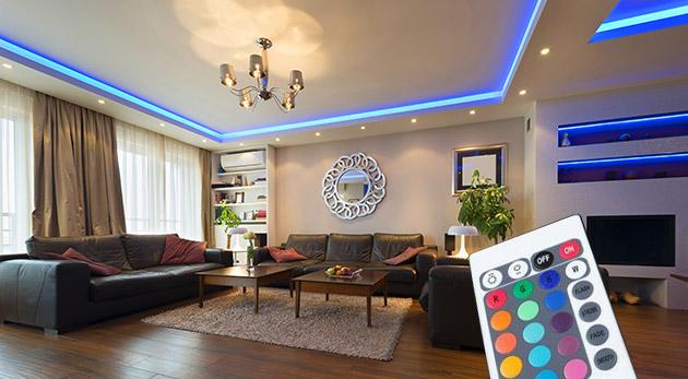LED pás s diaľkovým ovládaním na dekoratívne či nočné osvetlenie vášho domova