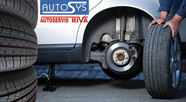 Výmena letných pneumatík za zimné vrátane vyváženia kolies v Lamači