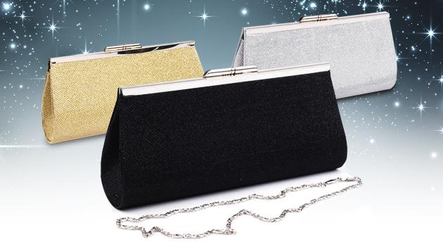 Elegantná trblietavá listová kabelka - na výber z troch farieb