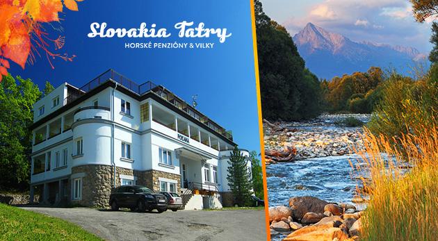 Jesenný oddych vo Vysokých Tatrách v Penzióne Poľana*** na 3 dni s polpenziou