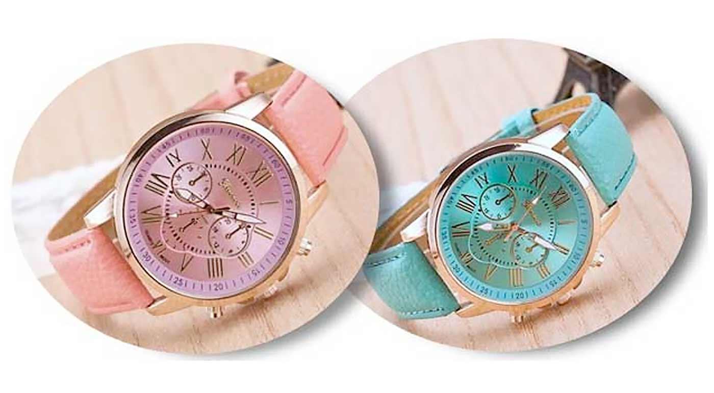 Dámske náramkové hodinky s koženým ramienkom