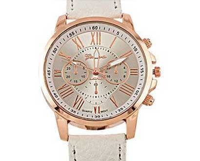 Dámske hodinky Geneva Platinum - farba biela za 8,90 €