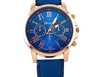 Dámske hodinky Geneva Platinum - farba modrá