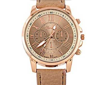 Dámske hodinky Geneva Platinum - farba krémová