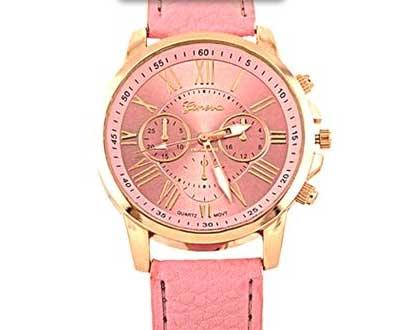 Dámske hodinky Geneva Platinum - farba ružová