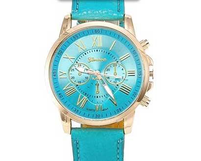 Dámske hodinky Geneva Platinum - farba svetlomodrá