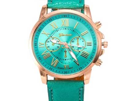 Dámske hodinky Geneva Platinum - farba zelená 1ef0dd26c5