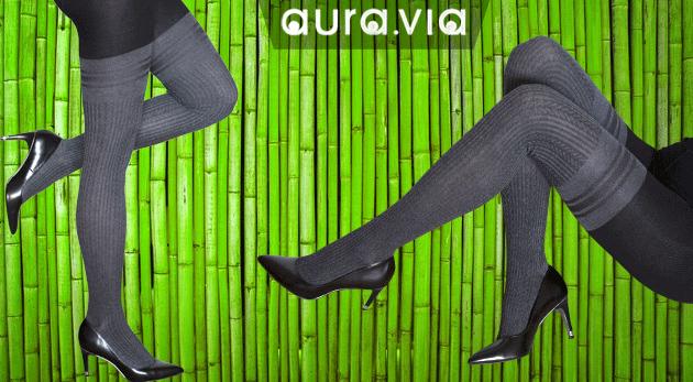 Hrejivé dámske pančuchy z bambusového vlákna značky Aura Via