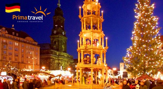 Vianočný trh v Drážďanoch a slávny zámok Moritzburg - 2-dňový autobusový zájazd s ubytovaním