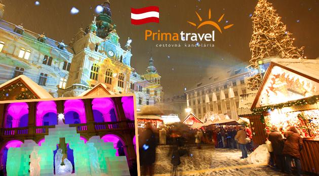 Vianočné trhy v Grazi a unikátny ľadový betlehem