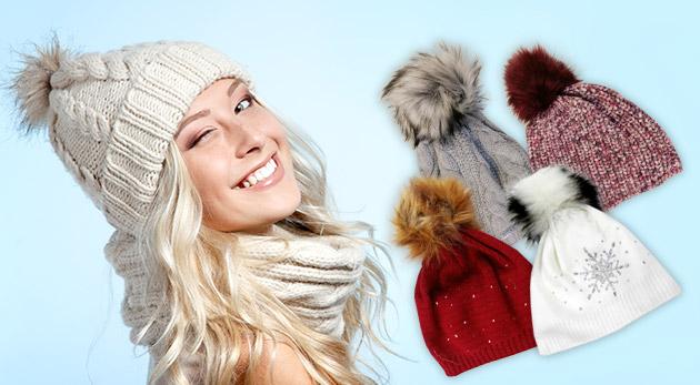 Dámske štýlové zimné čiapky