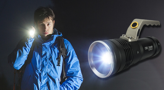 Praktická LED baterka s rúčkou a funkciou ZOOM