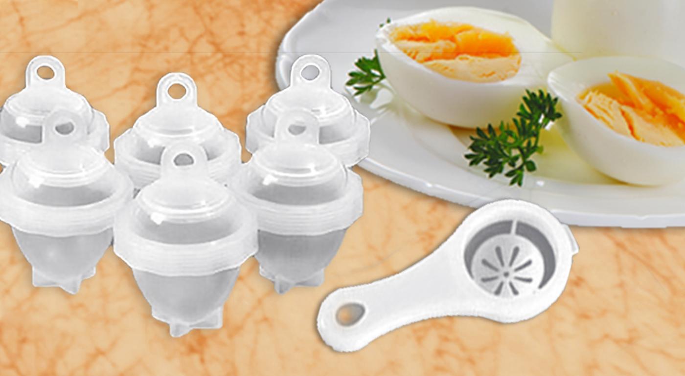 Praktický pomocník do kuchyne - nádobky na varenie vajíčok