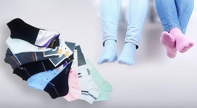 9 párov dámskych alebo pánskych ponožiek