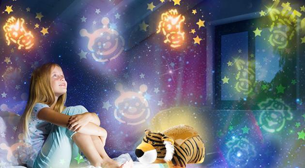 Svietiace zvieratká pre deti pre uľahčenie zaspávania
