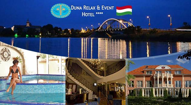 Exkluzívny pobyt plný wellness služieb s polpenziou v 4* hoteli s výhľadom na Dunaj v Maďarsku
