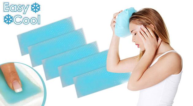 Účinné chladiace náplaste s mentolom - 5 kusov