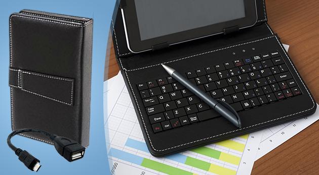Praktický obal v elegantnom čiernom prevedení s klávesnicou