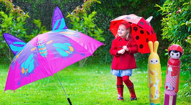 Roztomilé detské dáždniky pre dievčatá i chlapcov - na výber rôzne motívy