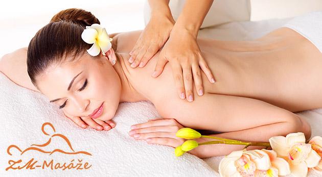 Relaxačná masáž celého tela na 1 hodinu pre jednotlivca alebo páry v Hoteli Bratislava
