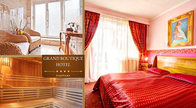 Zažite večer plný romantiky v elegantnom Grand Boutique Hoteli Sergijo**** v Piešťanoch