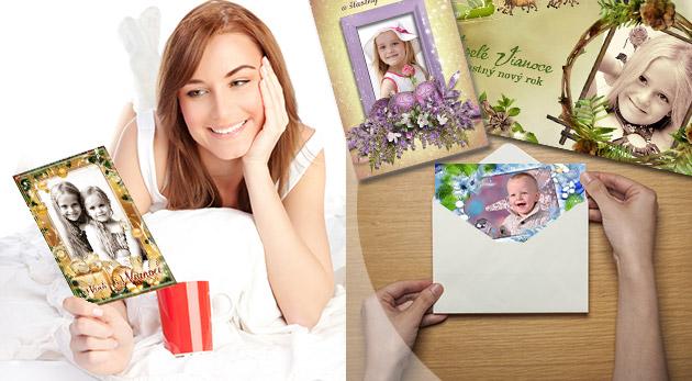 Vianočné magnetky, pozdravy alebo pohľadnice s vlastnou fotografiou