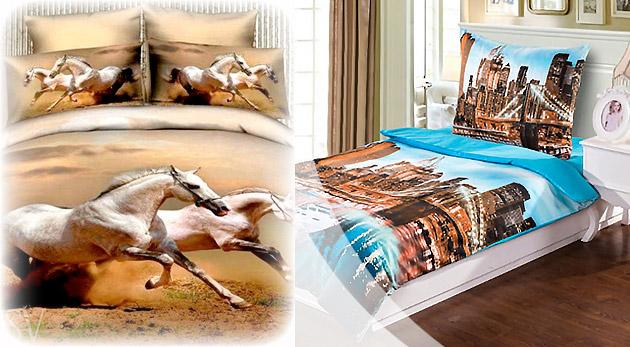 3D posteľné obliečky na jednolôžko - na výber z 12 vzorov
