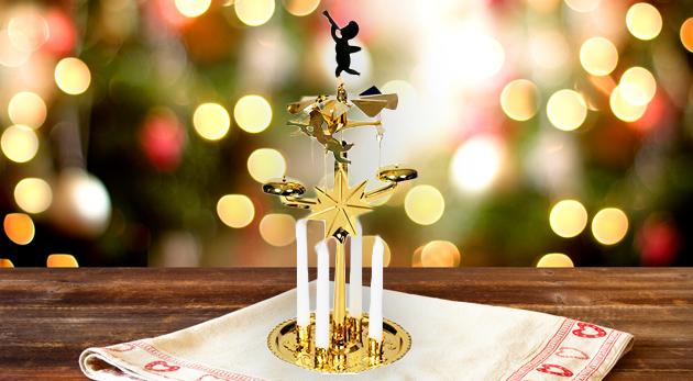 Legendárny vianočný svietnik anjelské zvonenie
