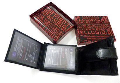 Pánska kožená peňaženka - čierna farba