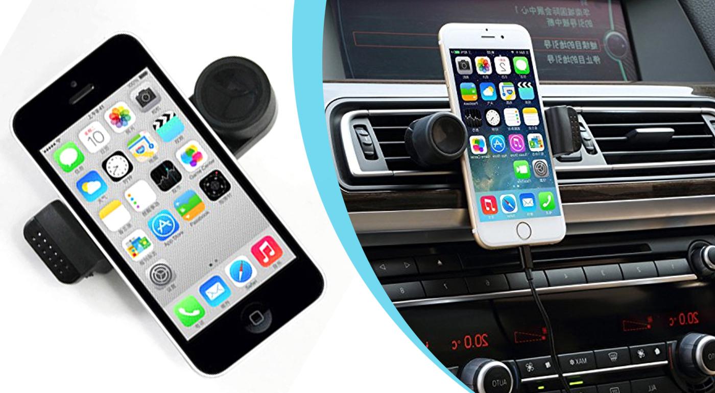 Rotačný držiak na mobilné tefóny do auta
