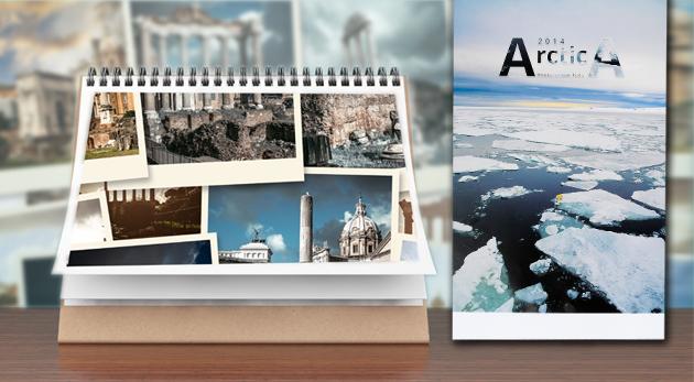 Stolový alebo nástenný kalendár s fotografiami, na ktorých budete vy!