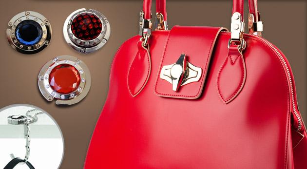 Praktický a elegantný držiak na kabelku - na výber z 11 druhov
