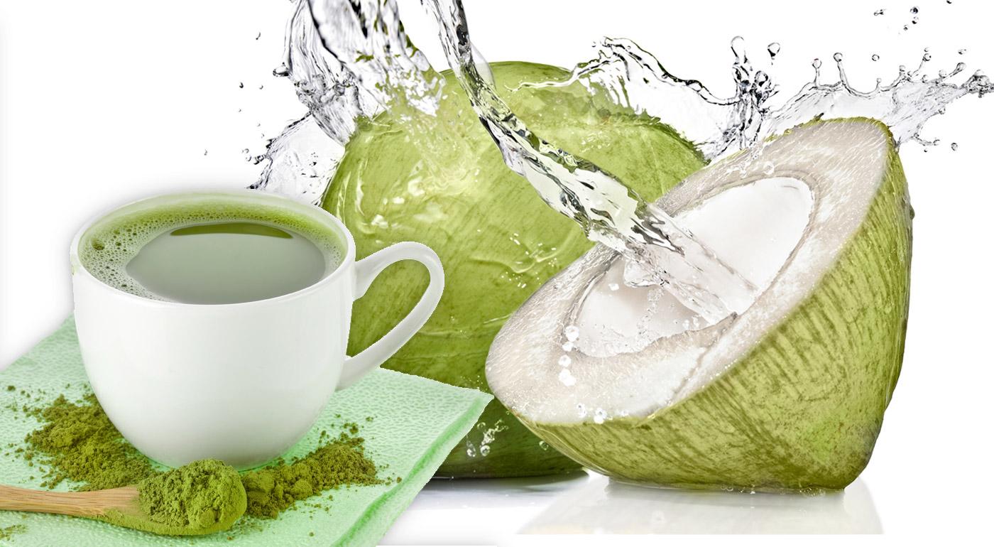 Zelený japonský čaj 100 % BIO MATCHA alebo kokosová voda COCOnatural - detoxikujte, spaľujte tuky a posilnite imunitu