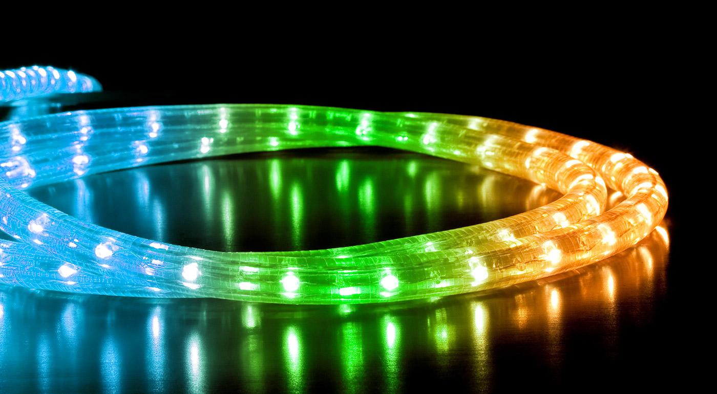 LED farebné osvetlenie do interiéru alebo exteriéru